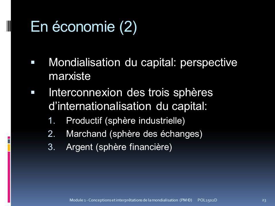En économie (2) Mondialisation du capital: perspective marxiste