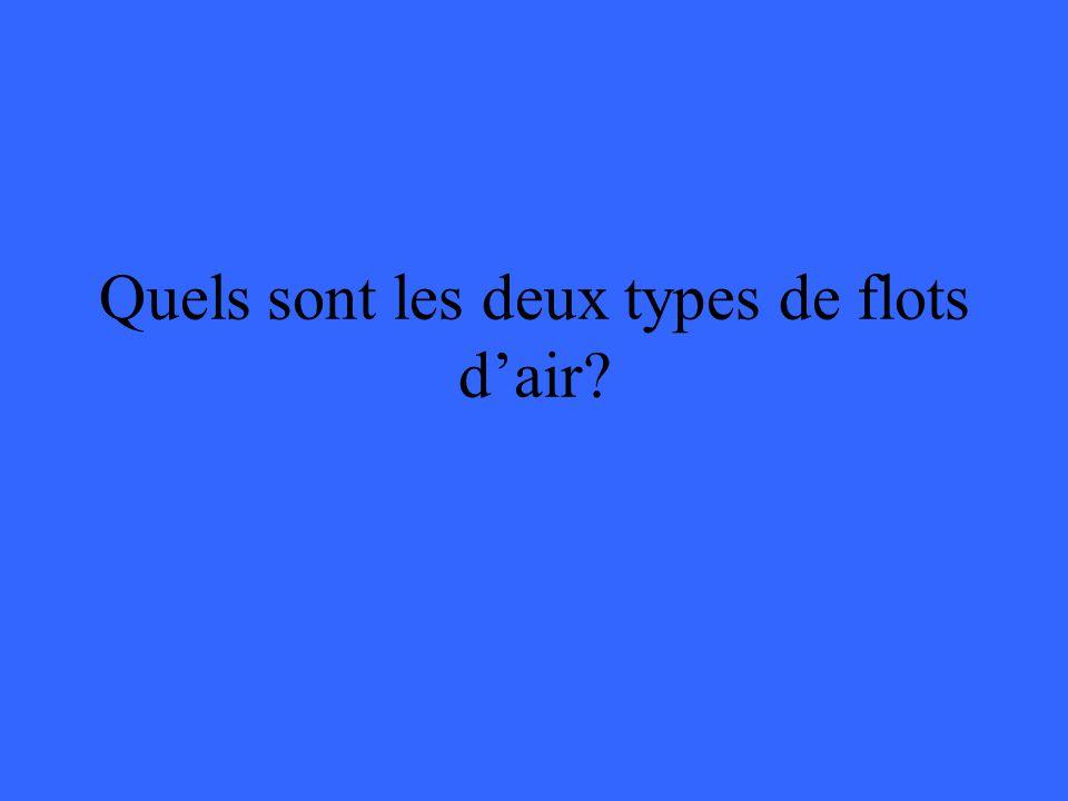Quels sont les deux types de flots d'air