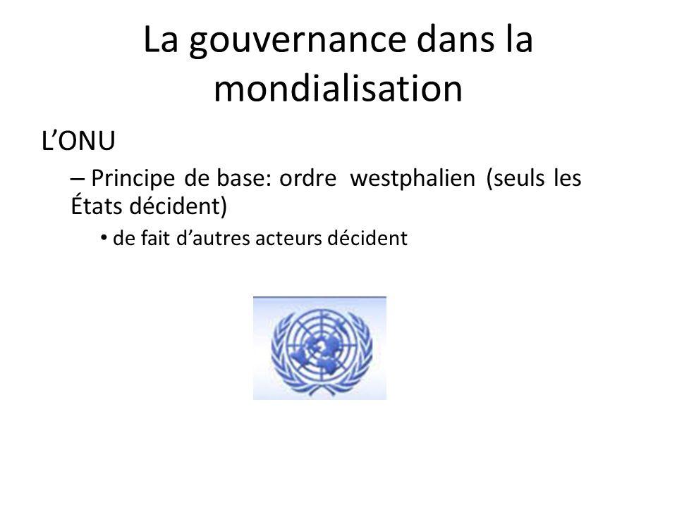 La gouvernance dans la mondialisation