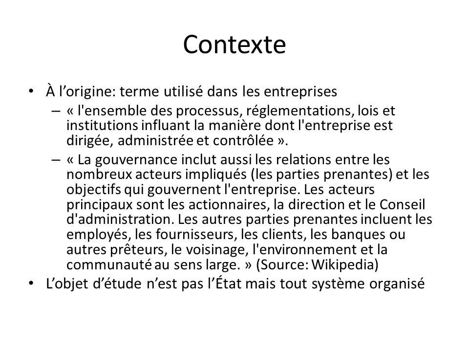 Contexte À l'origine: terme utilisé dans les entreprises