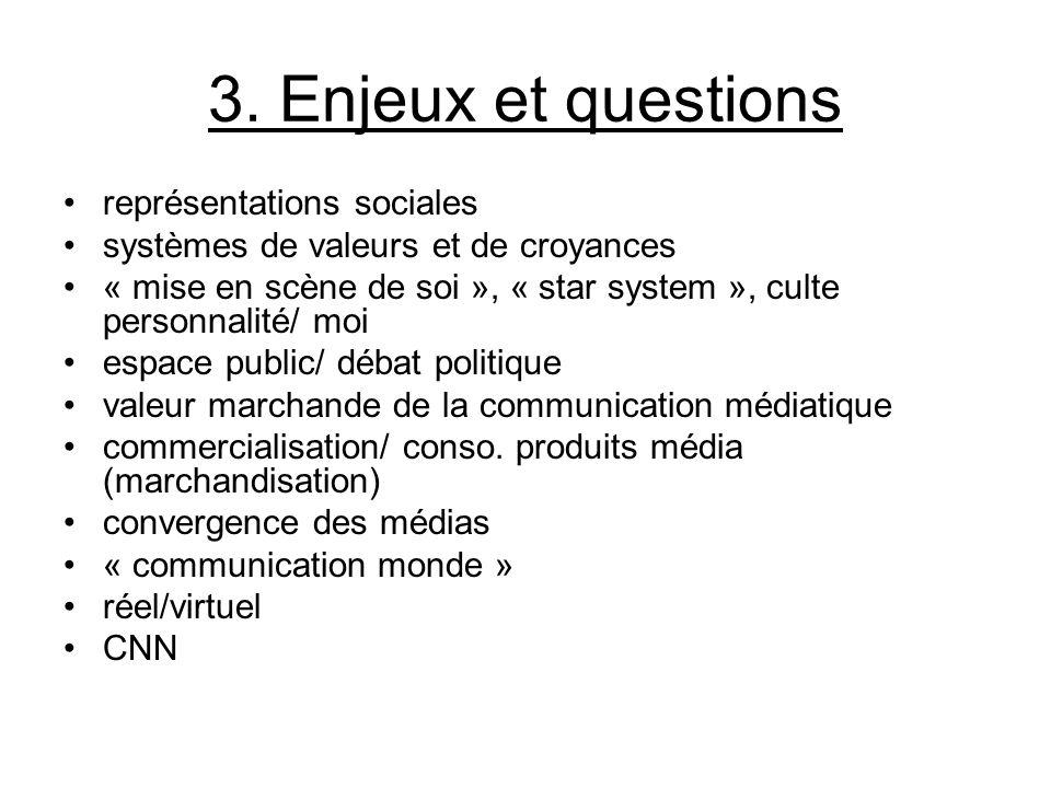 3. Enjeux et questions représentations sociales