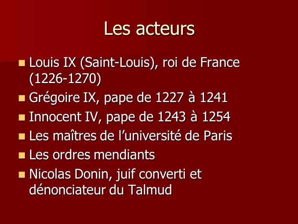 Les acteurs Louis IX (Saint-Louis), roi de France (1226-1270)
