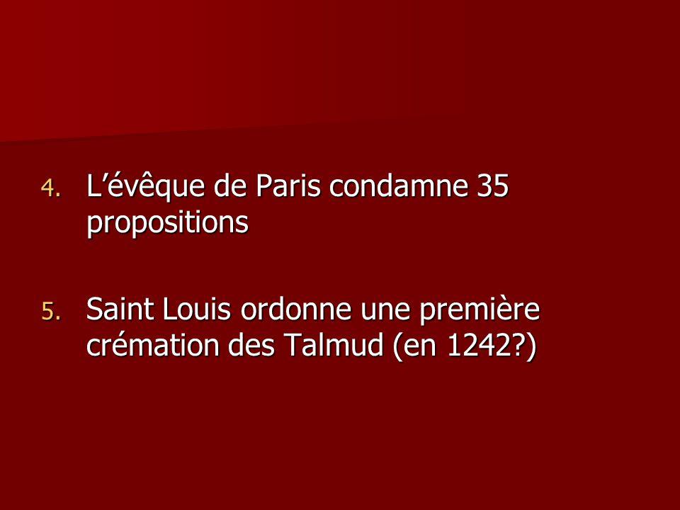 L'évêque de Paris condamne 35 propositions