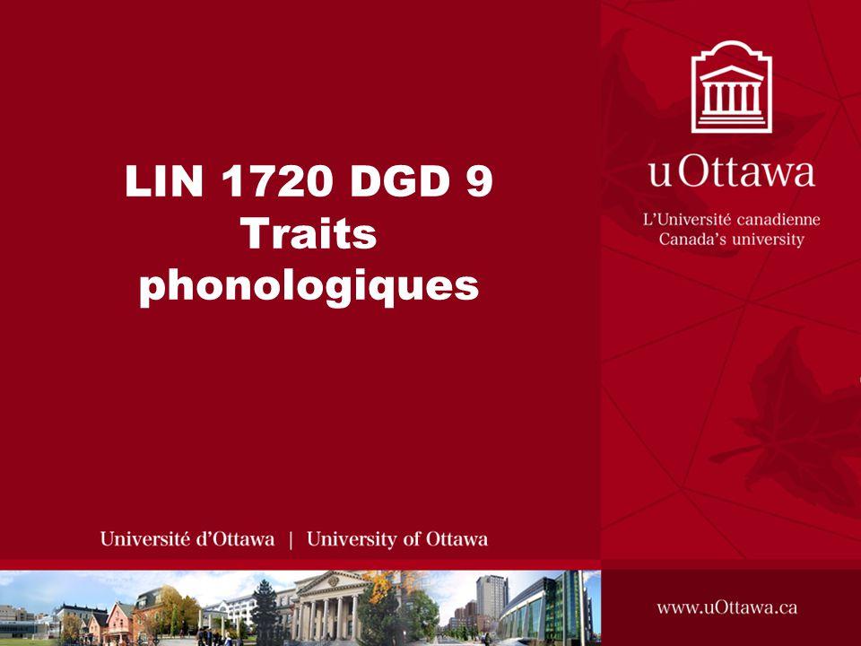 LIN 1720 DGD 9 Traits phonologiques