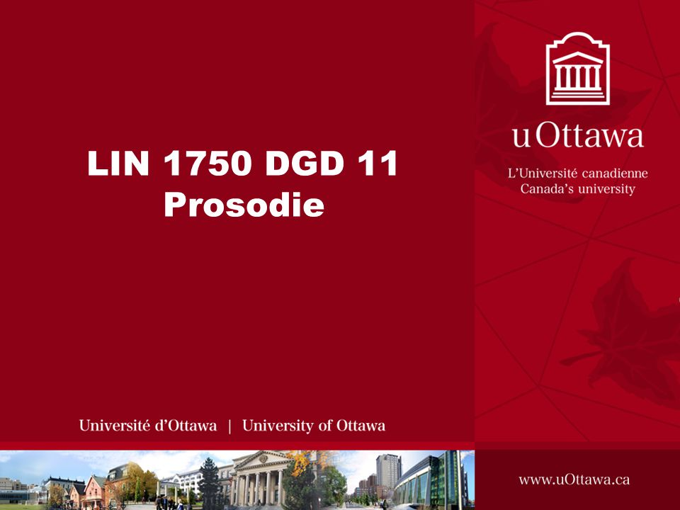 LIN 1750 DGD 11 Prosodie