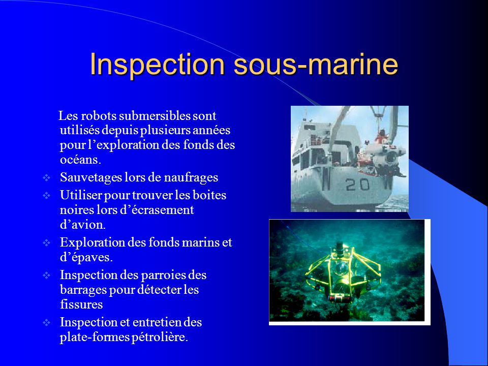 Inspection sous-marine