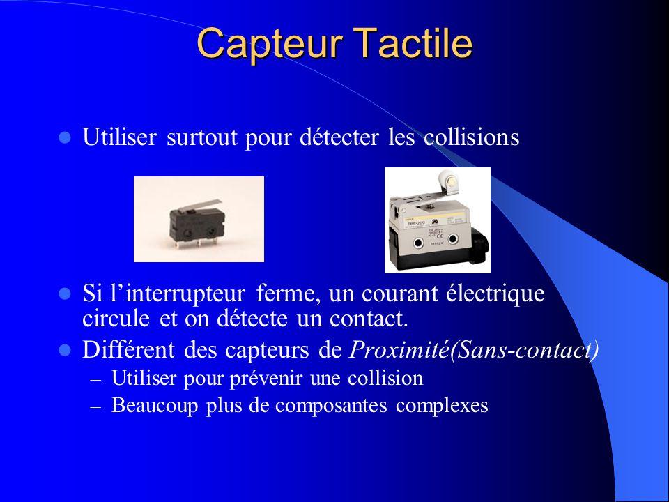 Capteur Tactile Utiliser surtout pour détecter les collisions
