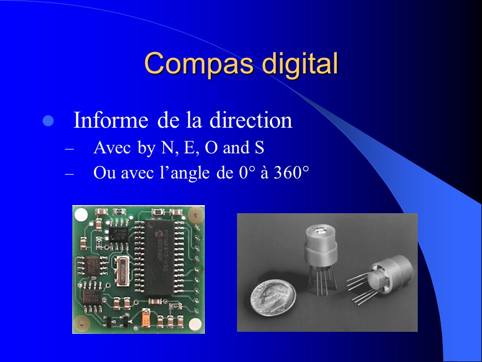 Compas digital Informe de la direction Avec by N, E, O and S