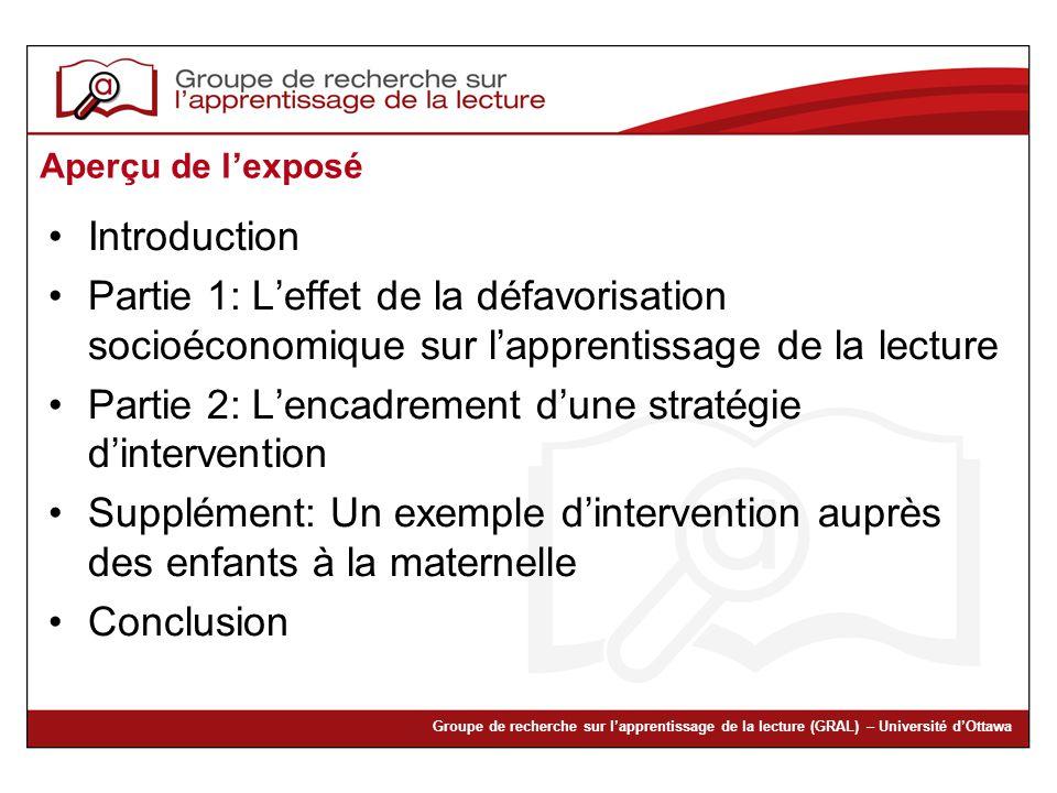 Partie 2: L'encadrement d'une stratégie d'intervention