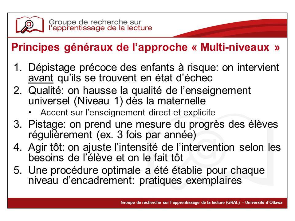 Principes généraux de l'approche « Multi-niveaux »