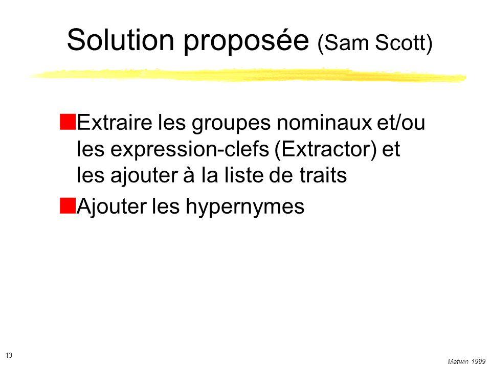 Solution proposée (Sam Scott)