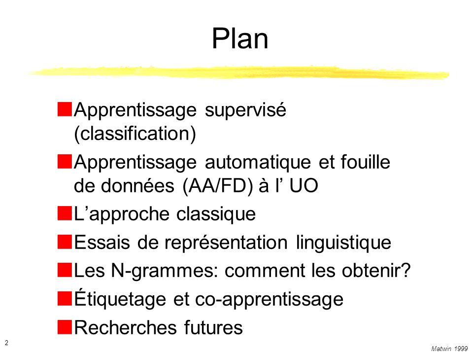 Plan Apprentissage supervisé (classification)