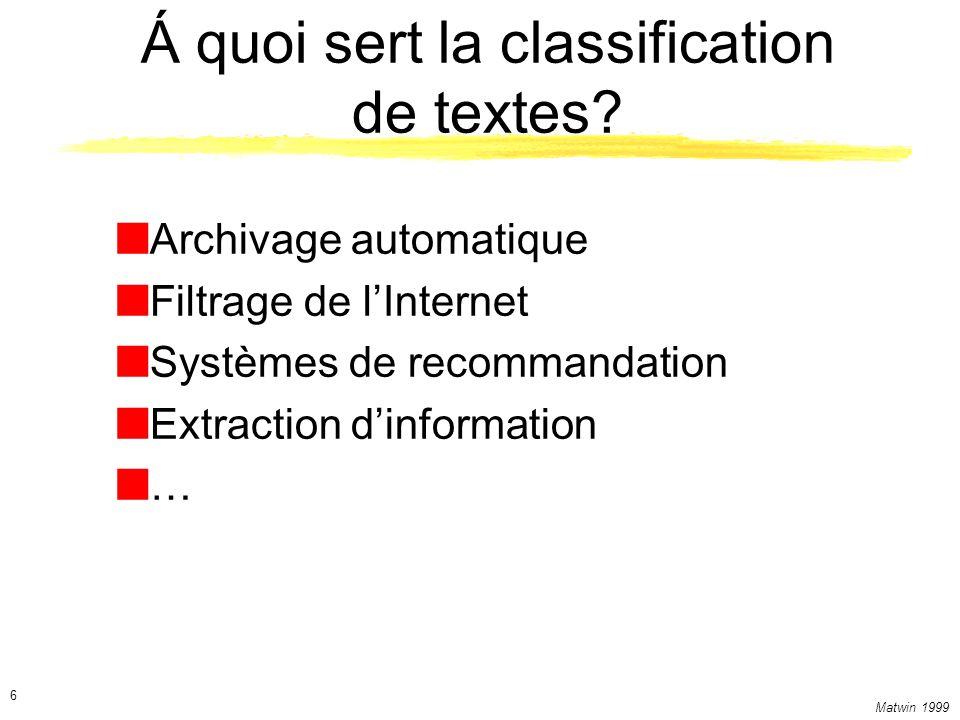 Á quoi sert la classification de textes