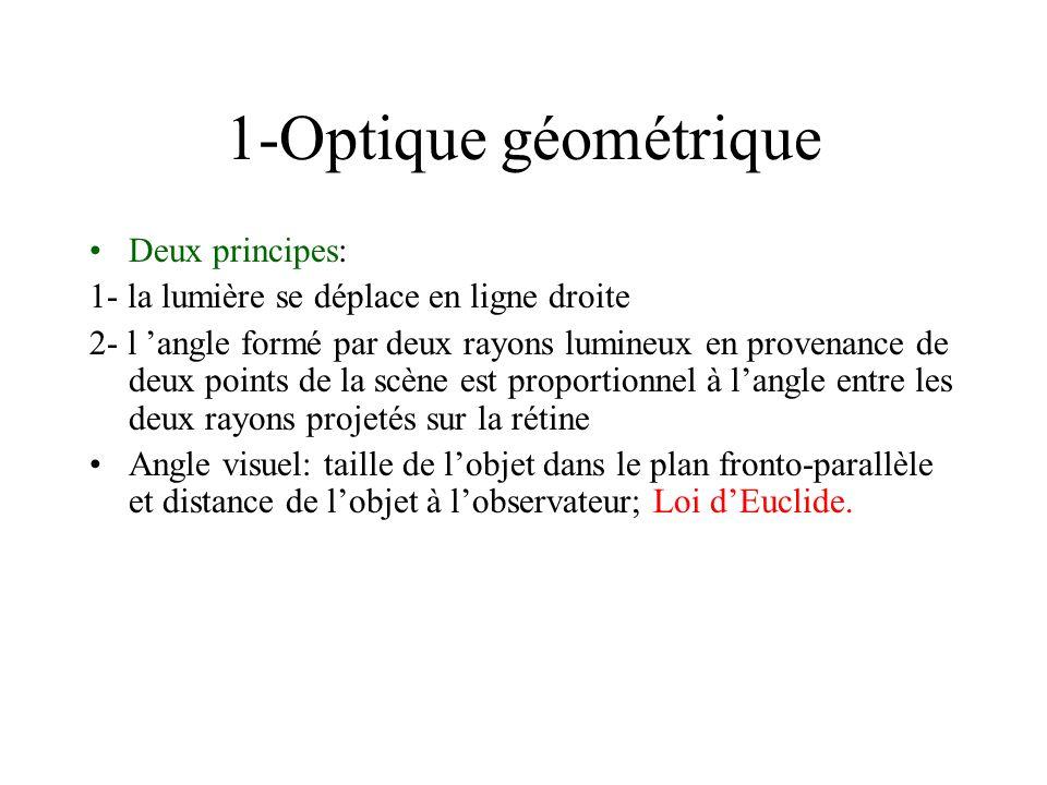 1-Optique géométrique Deux principes: