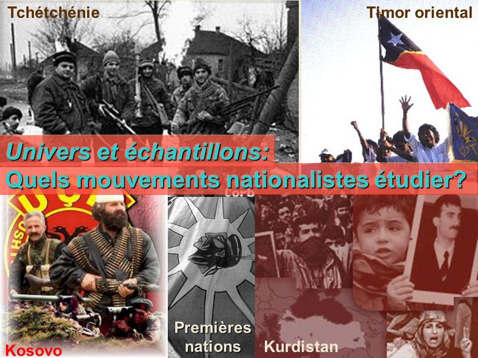 Quels mouvements nationalistes étudier