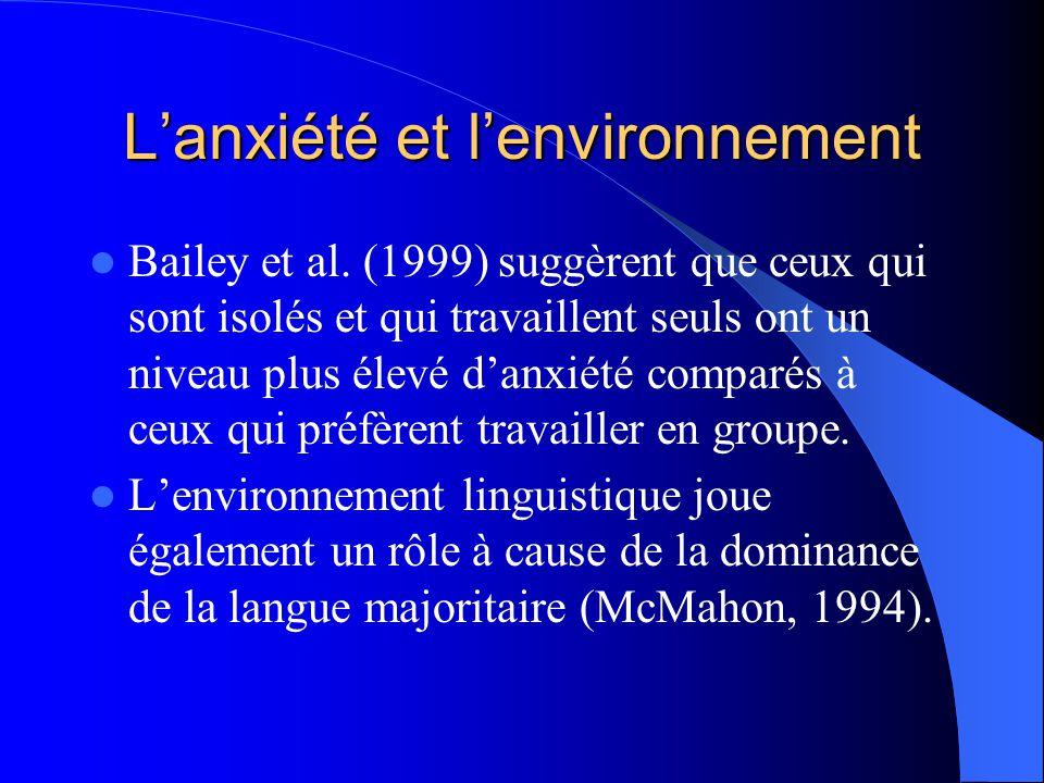 L'anxiété et l'environnement