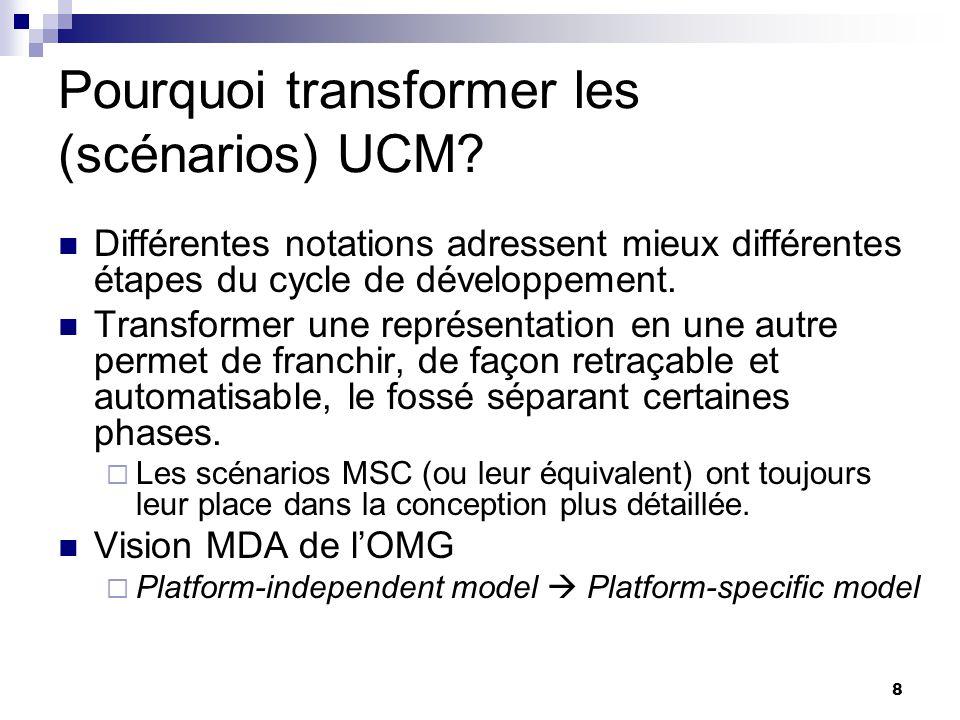 Pourquoi transformer les (scénarios) UCM