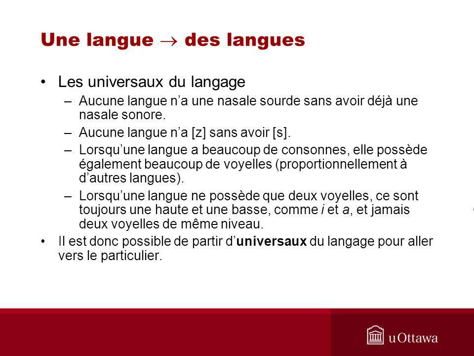 Une langue  des langues