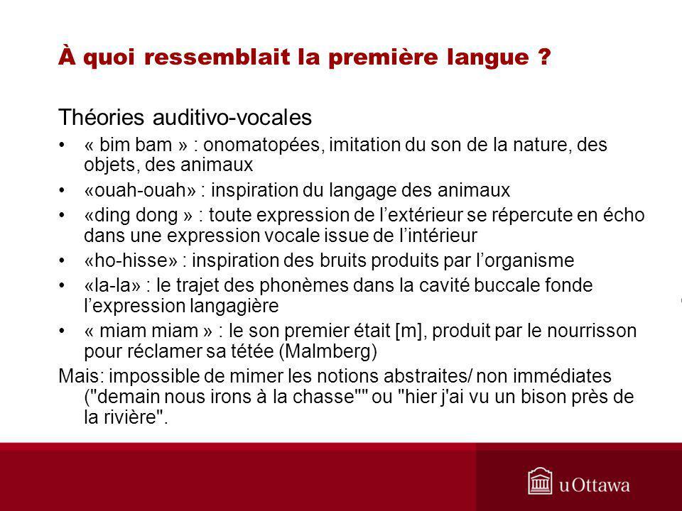 À quoi ressemblait la première langue