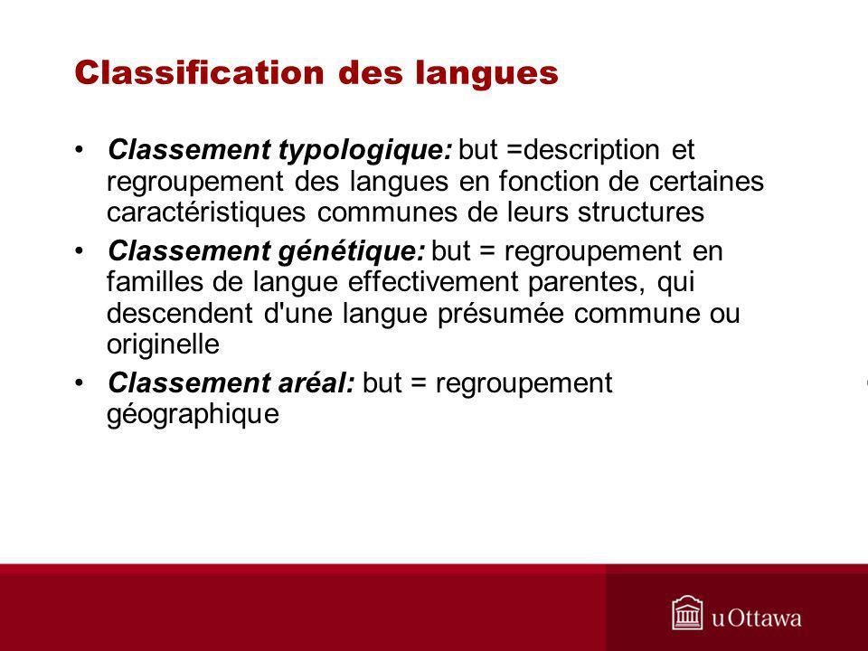 Classification des langues