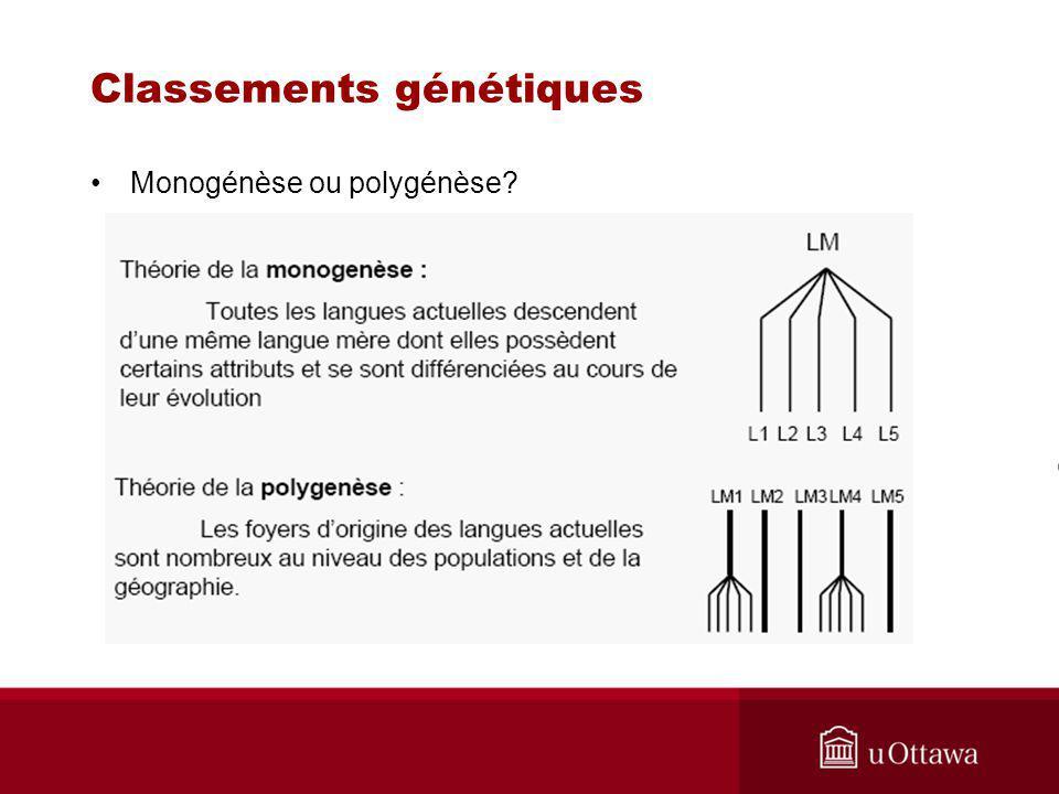 Classements génétiques