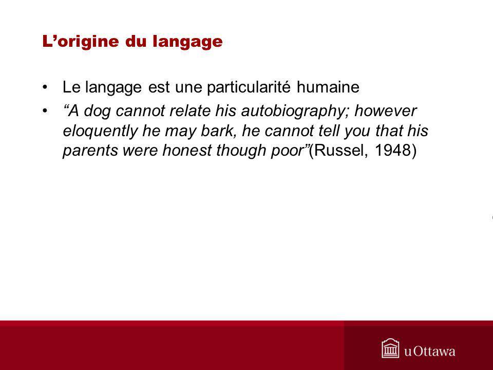 Le langage est une particularité humaine