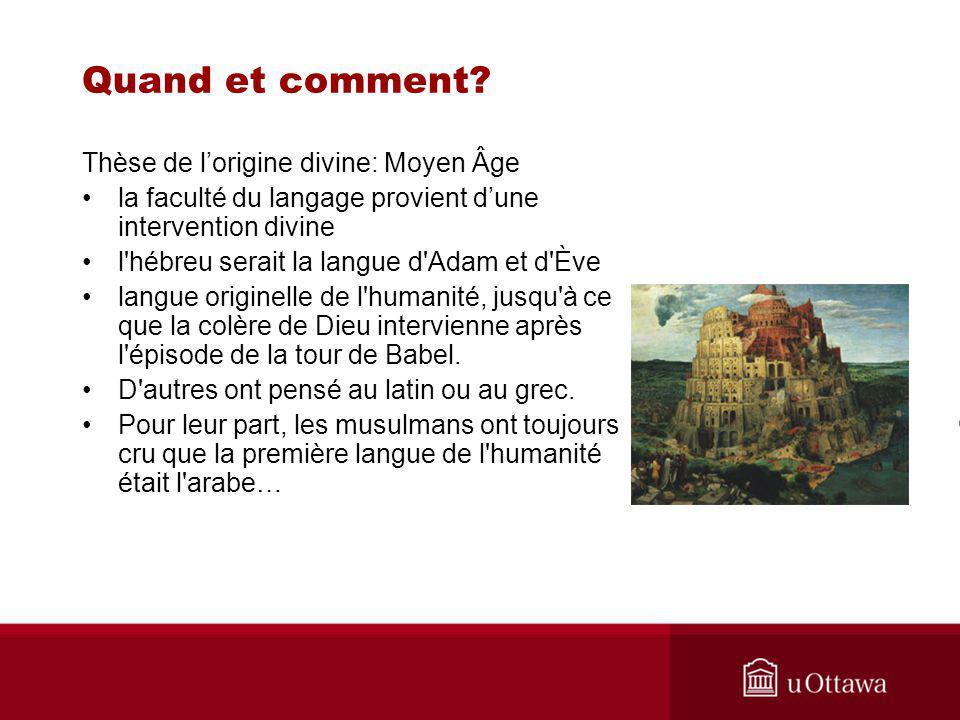 Quand et comment Thèse de l'origine divine: Moyen Âge