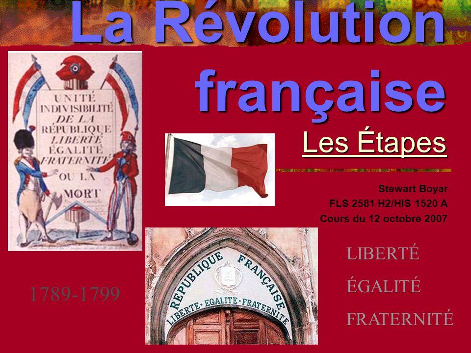 La Révolution française Les Étapes