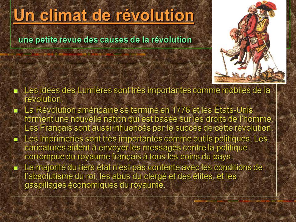 Un climat de révolution une petite revue des causes de la révolution