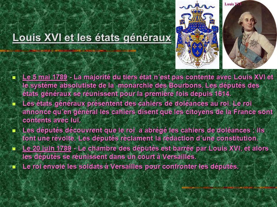 Louis XVI et les états généraux
