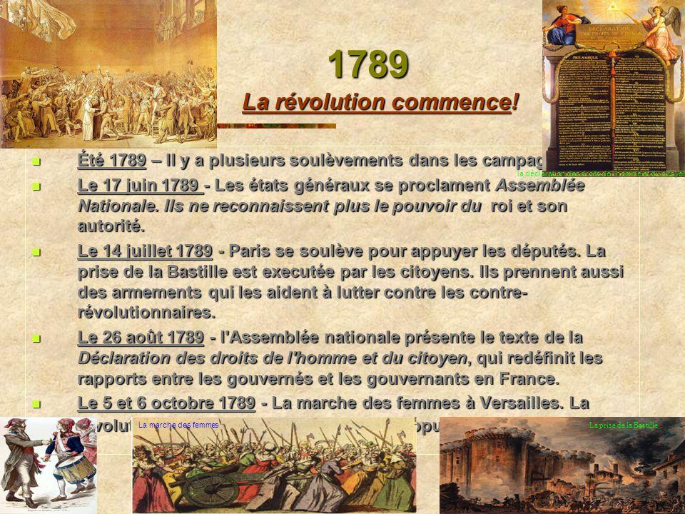1789 La révolution commence!