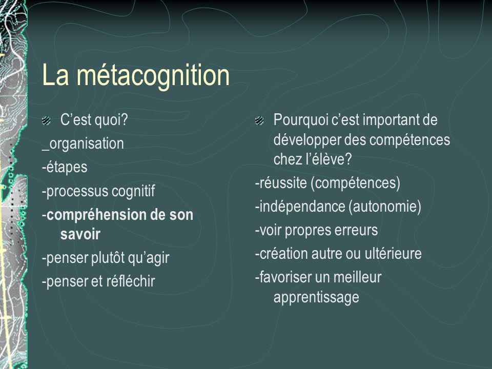 La métacognition C'est quoi _organisation -étapes -processus cognitif