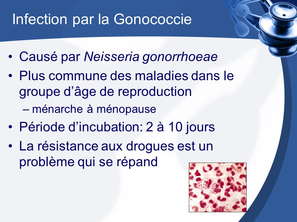 Infection par la Gonococcie