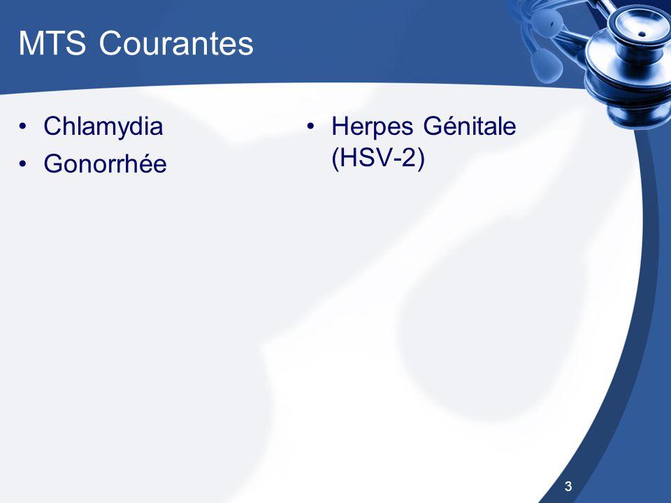 MTS Courantes Chlamydia Gonorrhée Herpes Génitale (HSV-2)