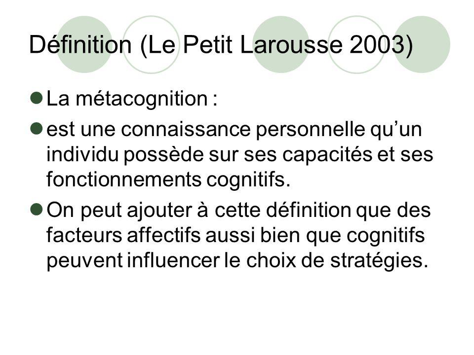 Définition (Le Petit Larousse 2003)