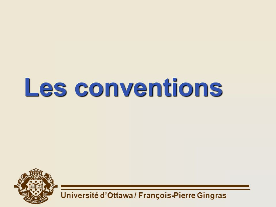 Les conventions