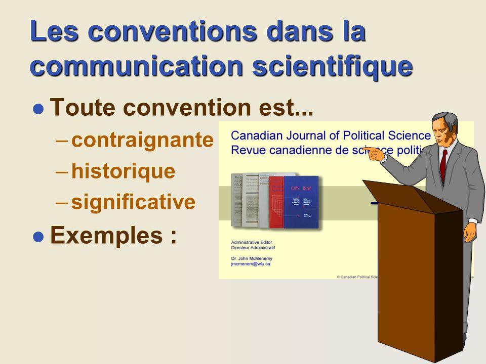 Les conventions dans la communication scientifique