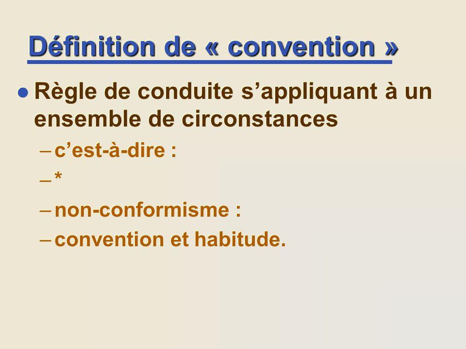 Définition de « convention »