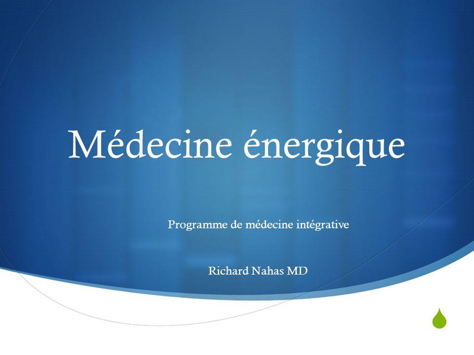 Programme de médecine intégrative Richard Nahas MD