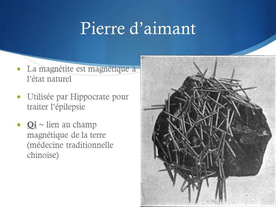 Pierre d'aimant La magnétite est magnétique à l'état naturel