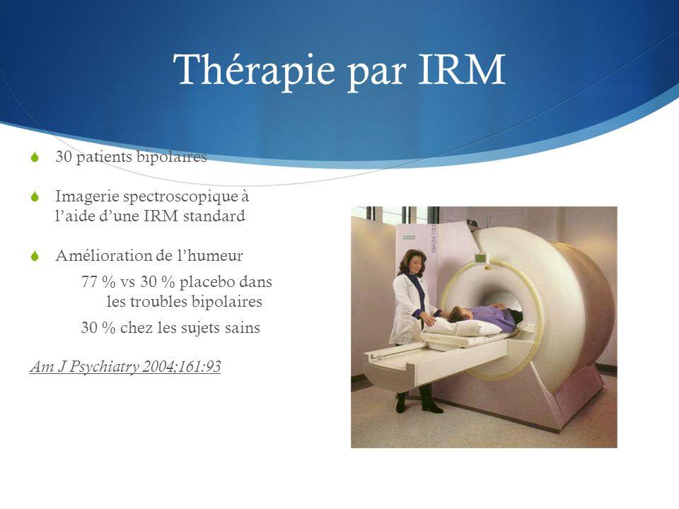 Thérapie par IRM 30 patients bipolaires