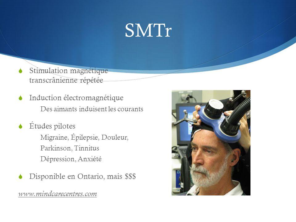 SMTr Stimulation magnétique transcrânienne répétée