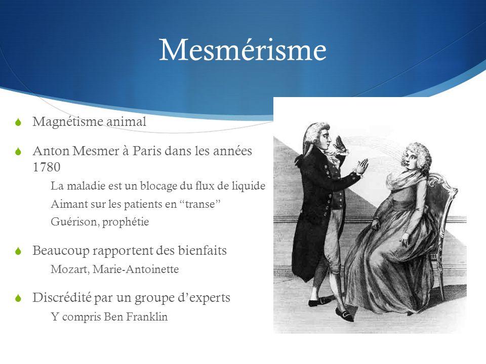 Mesmérisme Magnétisme animal Anton Mesmer à Paris dans les années 1780