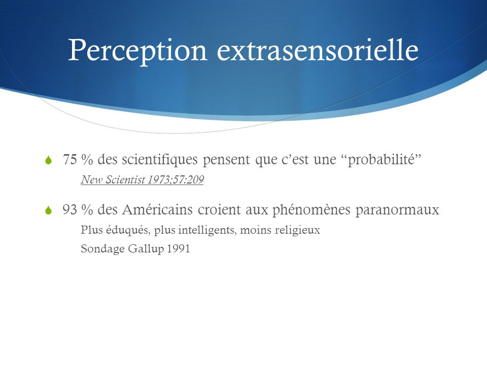 Perception extrasensorielle
