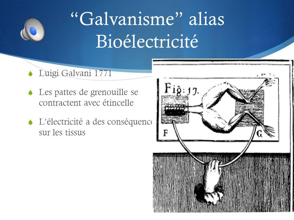 Galvanisme alias Bioélectricité