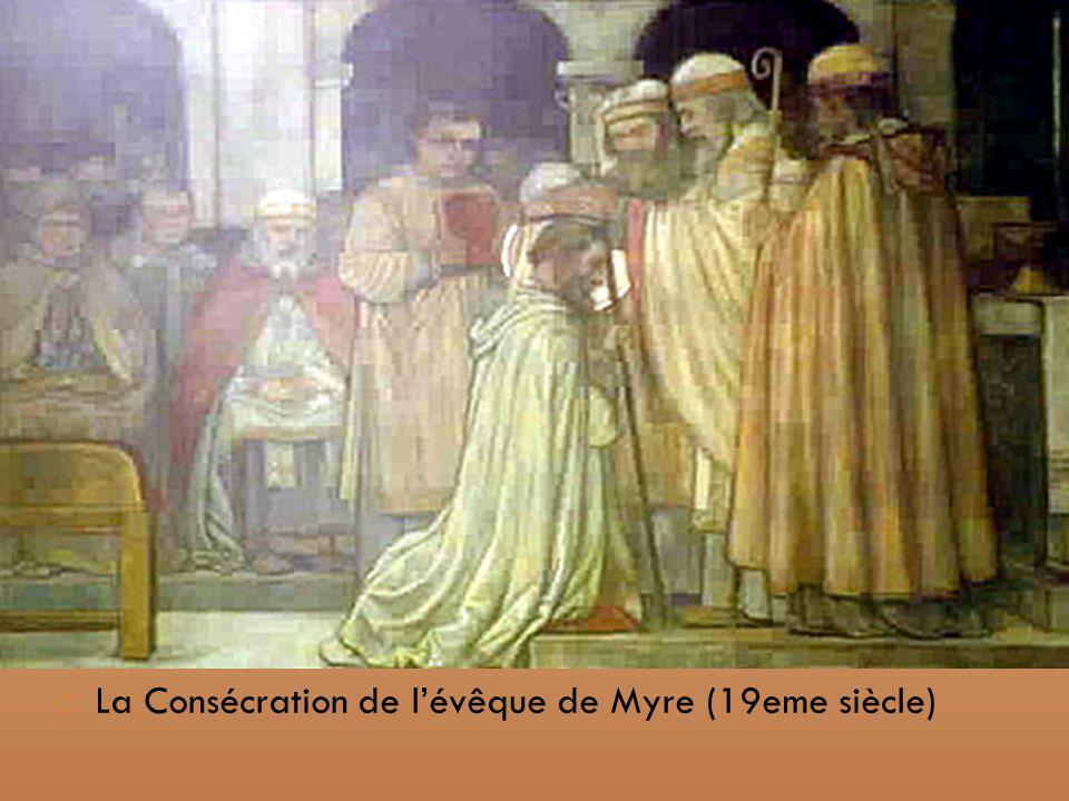 La Consécration de l'évêque de Myre (19eme siècle)