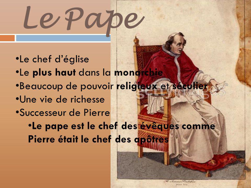 Le Pape Le chef d'église Le plus haut dans la monarchie