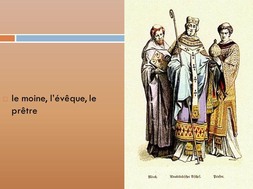 le moine, l'évêque, le prêtre