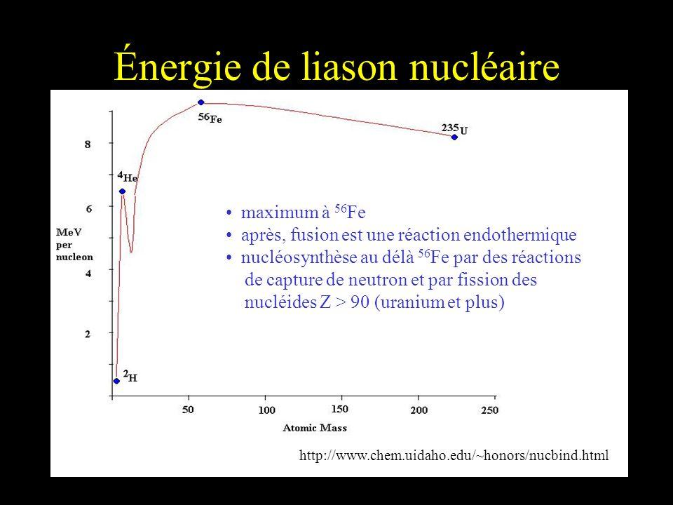 Énergie de liason nucléaire