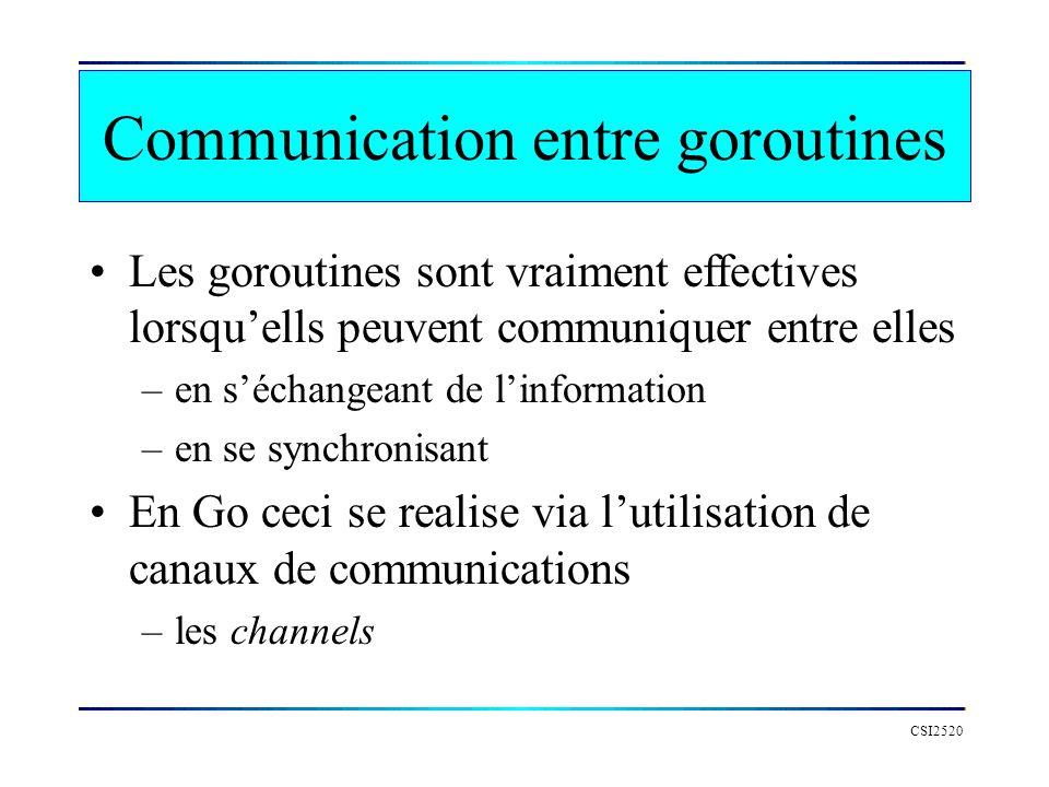 Communication entre goroutines
